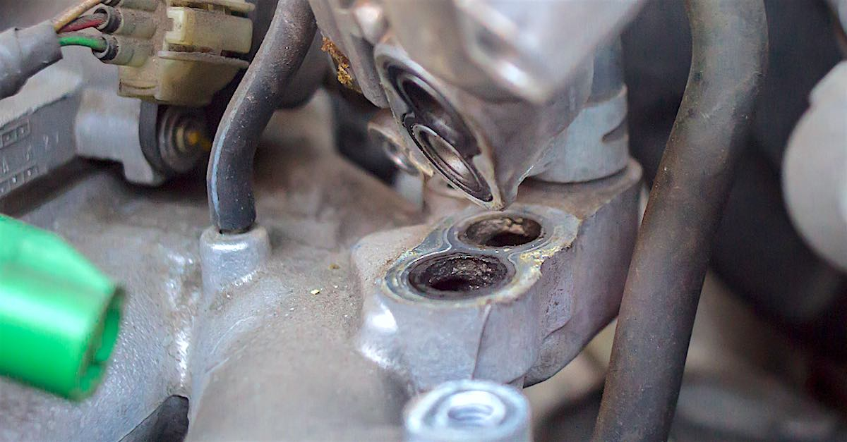 Idle air control valve orifices in need of deep cleaning