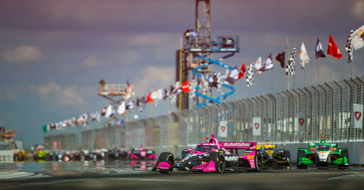 |Photographer: Al Arena|Event: Firestone Grand Prix of St Petersburg|Circuit: Streets of St Petersburg|Location: St Petersburg, Florida|Series: NTT IndyCar Series|Country: United States|Session: race|Season: 2020|Team: Andretti Harding Steinbrenner Autosport|Team: Andretti Autosport|Car: Dallara DW12 UAK18|Car: Honda|Number: 88|Car: Dallara DW12 UAK18|Car: Honda|Number: 27|Driver: Colton Herta|Driver: Alexander Rossi|