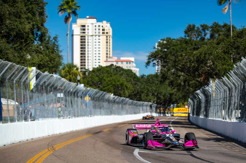 |Photographer: Al Arena|Event: Firestone Grand Prix of St Petersburg|Circuit: Streets of St Petersburg|Location: St Petersburg, Florida|Series: NTT IndyCar Series|Country: United States|Session: FP1|Season: 2020|Team: Andretti Autosport|Car: Dallara DW12 UAK18|Car: Honda|Number: 27|Driver: Alexander Rossi|