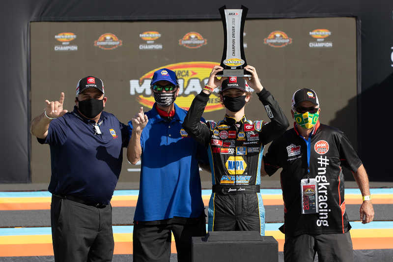 Jesse Love 19 NAPA Power Premium Plus ARCA Menards West Series champion