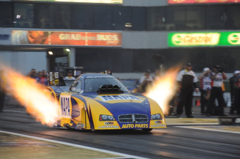 Capps launch flames