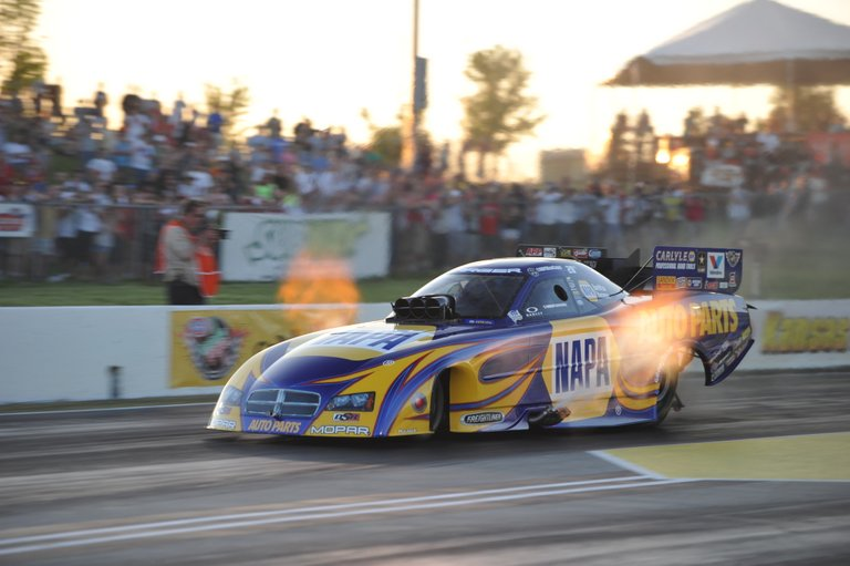 Ron Capps NAPA Funny Car Topeka 2013 Flames