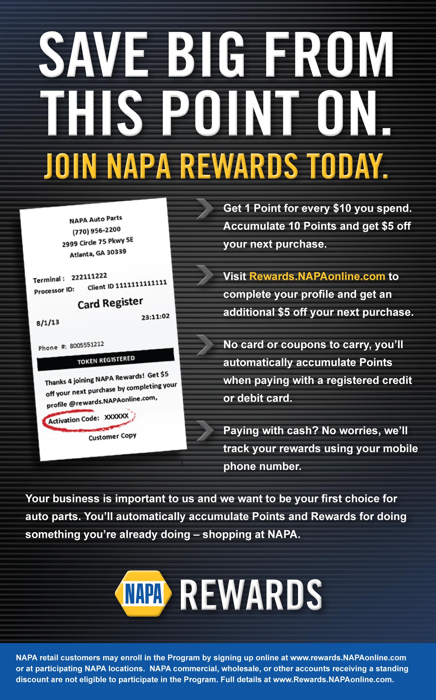 NAPA Rewards_Handout