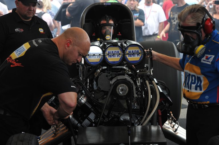NAPA Auto Parts NHRA Funny Car Ron Capps Northwest Nationals 2013 Warmup