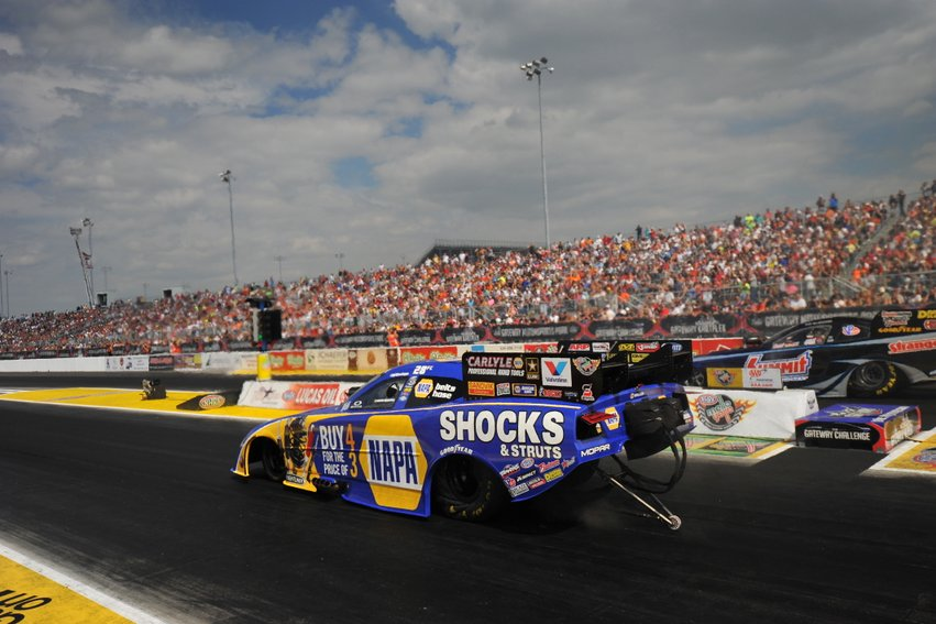 NAPA Dodge Shocks and Struts Funny Car at St. Louis at tree