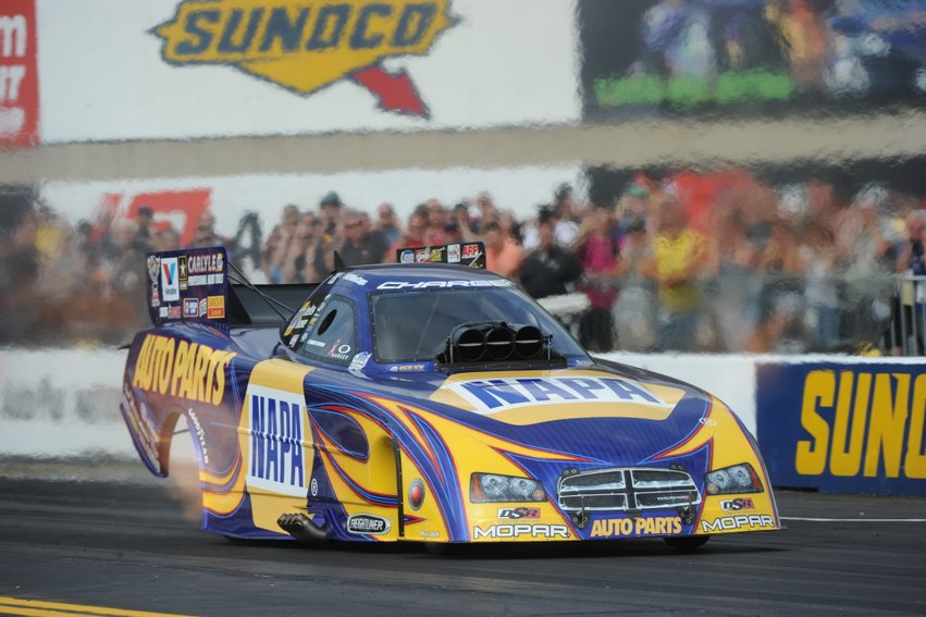 Ron Capps midtrack NAPA Dodge NHRA Reading