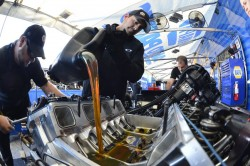 NAPA Dodge Shocks and Struts Funny Car at St. Louis Rebuild