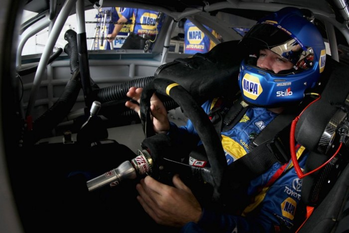 No. 56 NAPA AUTO PARTS Toyota driver Martin Truex Jr. finished fourth in the NASCAR 2013 Sprint Cup Series finale race at Homestead-Miami Speedway