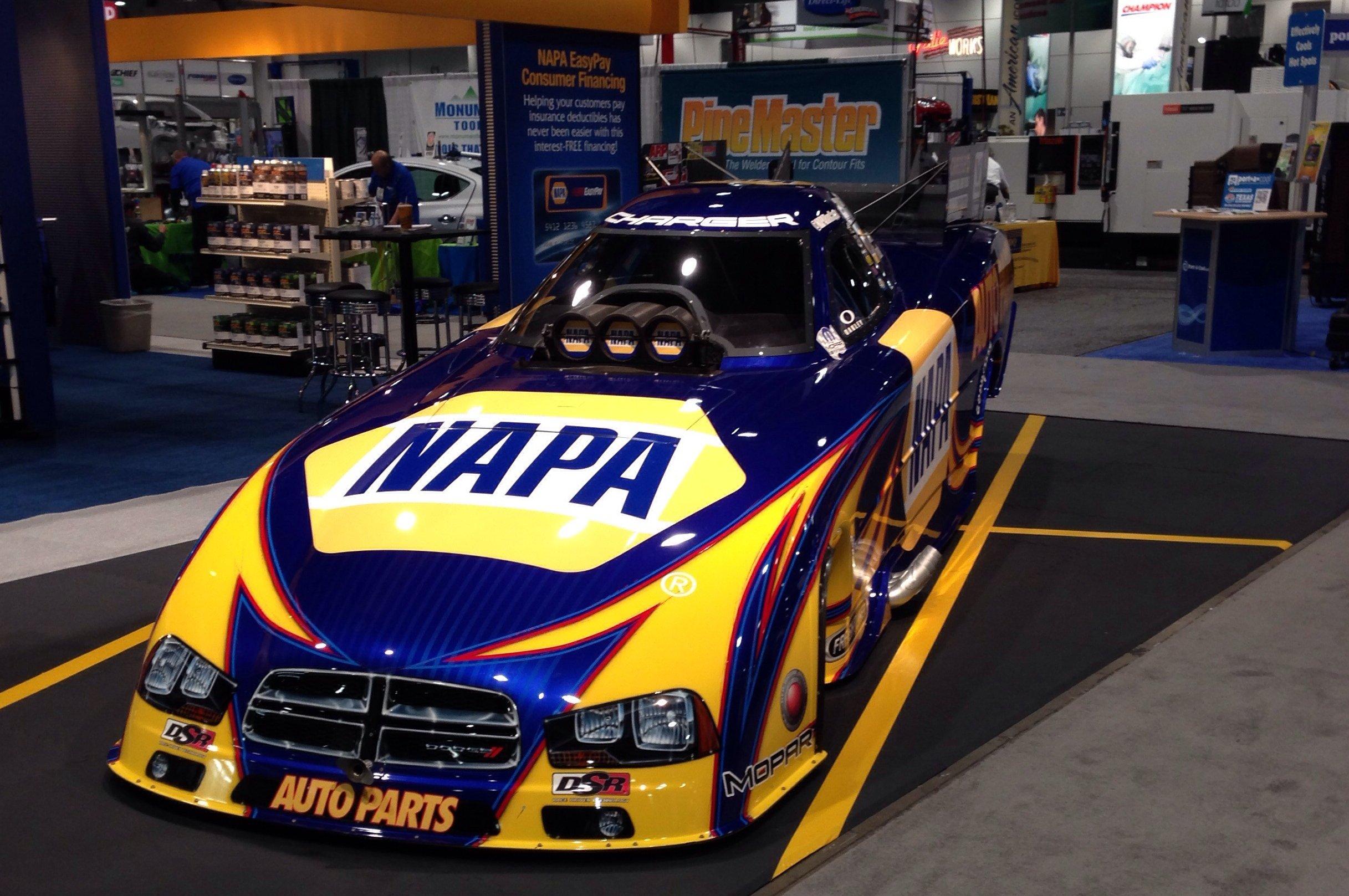 Ron Capps NAPA Funny Car at SEMA 2013