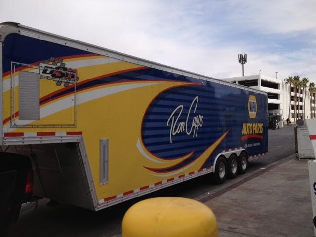 NAPA Racing transporter at SEMA 2013