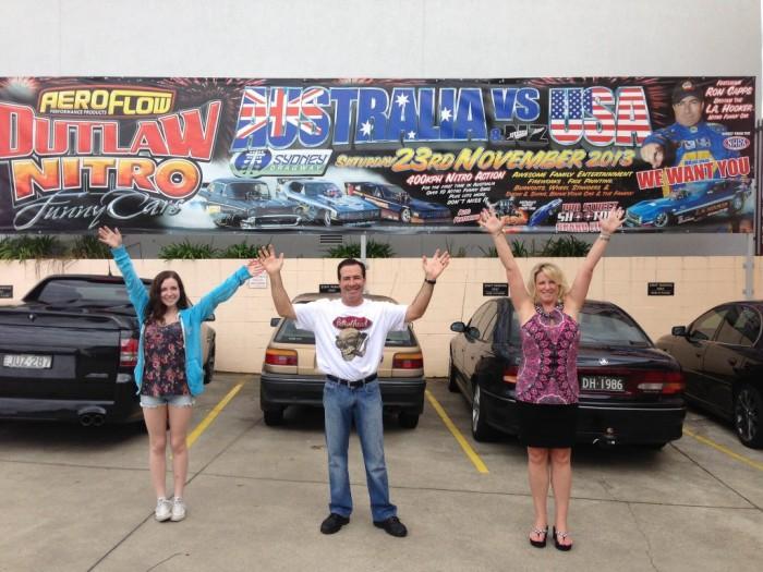 NAPA Funny Car Driver Ron Capps USA vs Australia Sydney Dragway 2013-001
