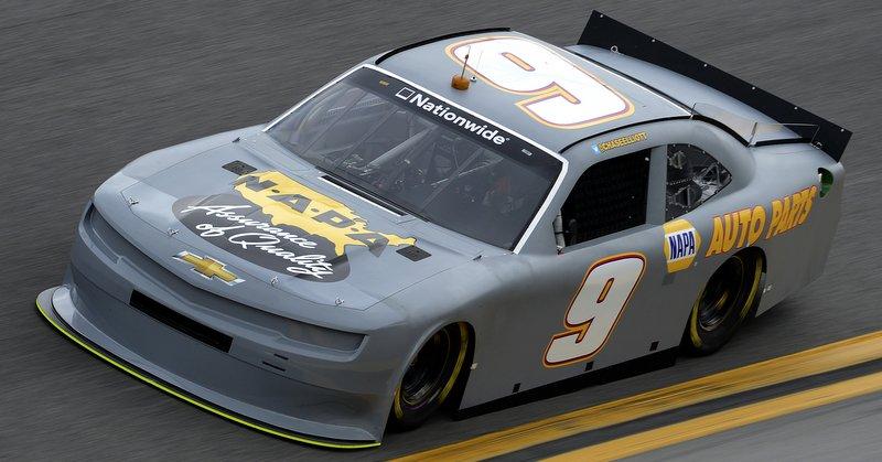 Chase Elliott during NASCAR Nationwide Series Testing at Daytona International Speedway in Daytona Beach, FL.
