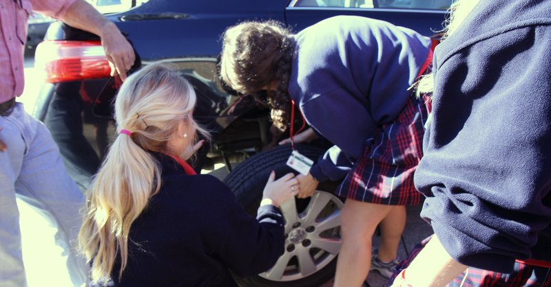 tire change, jack, repair, education
