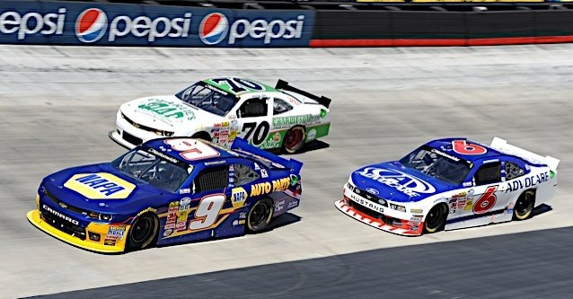 Chase Elliott during the Drive to Stop Diabetes 300 at Bristol Motor Speedway in Bristol, TN.