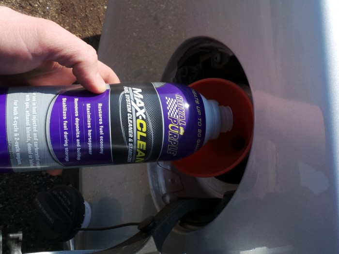 Cleaning your fuel system is as easy as adding some Royal Purple MaxClean to a tank of gas.