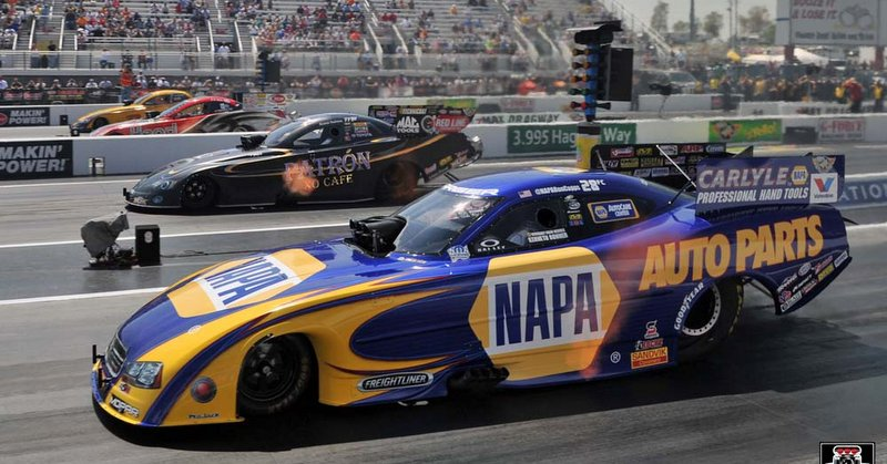 Capps Zmax Four-Wide Nationals 2014 NAPA Dodge Charger NHRA Funny Car first round