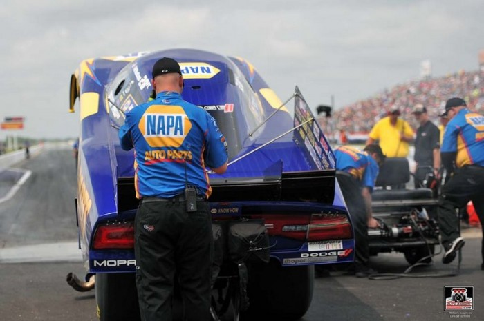 Royal Purple Raceway 2014 NAPA AUTO PARTS Dodge Charger RT Funny Car Ron Capps SpringNationals