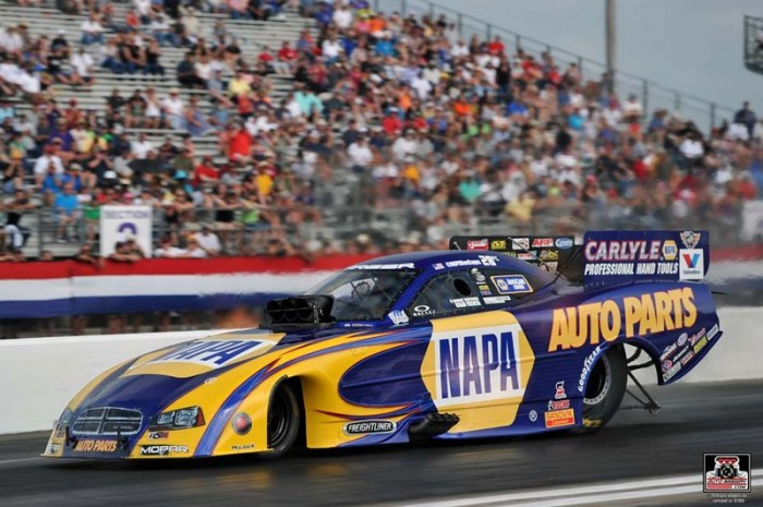 Royal Purple Raceway 2014 NAPA AUTO PARTS Dodge Charger RT Funny Car Ron Capps launch