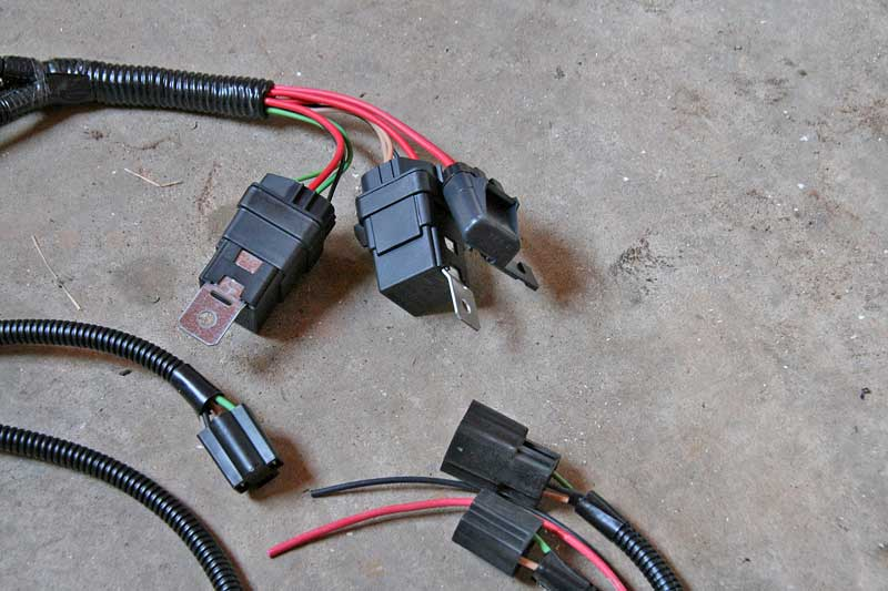 The only real wiring that is required is mounting the relays and making two connections- battery positive and ground.