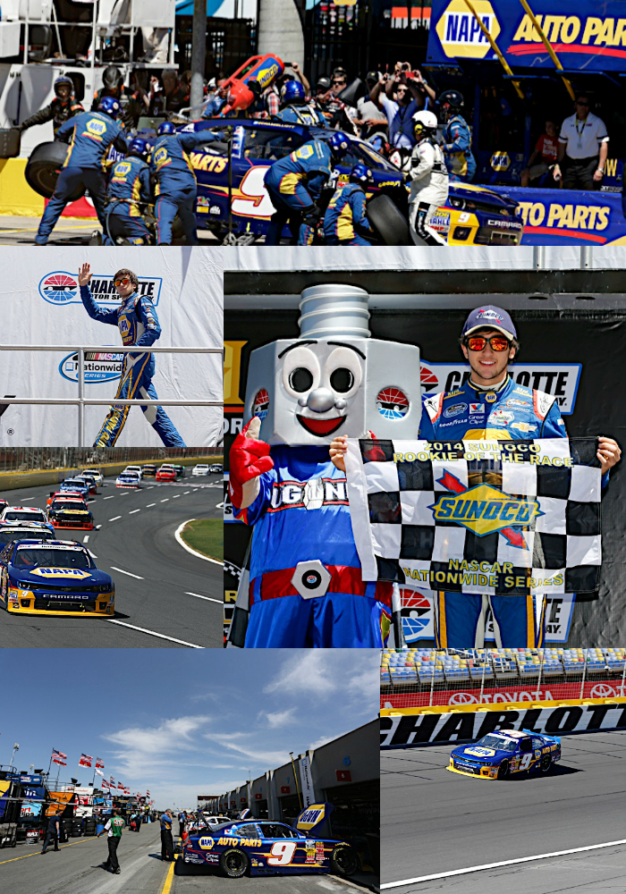 24 May 2014--Chase Elliott during the History 300 at the Charlotte Motor Speedway in Concord, NC.