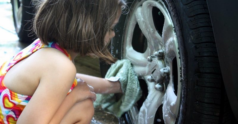 car wash wheel