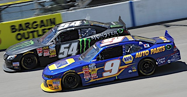 Chase Elliott during the NASCAR Nationwide Series Ollie's Bargain Outlet 250 at Michigan International Speedway in Brooklyn, MI.