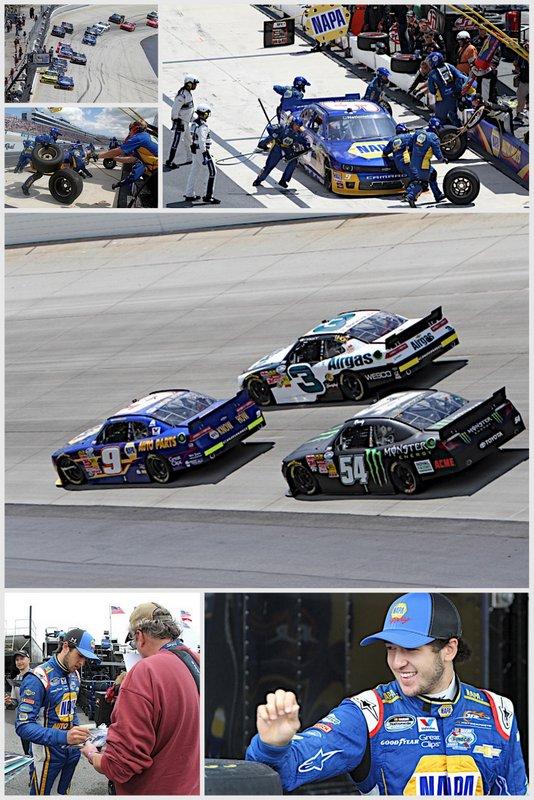 Chase Elliott Nationwide Series Dover International Speedway 2014 collage