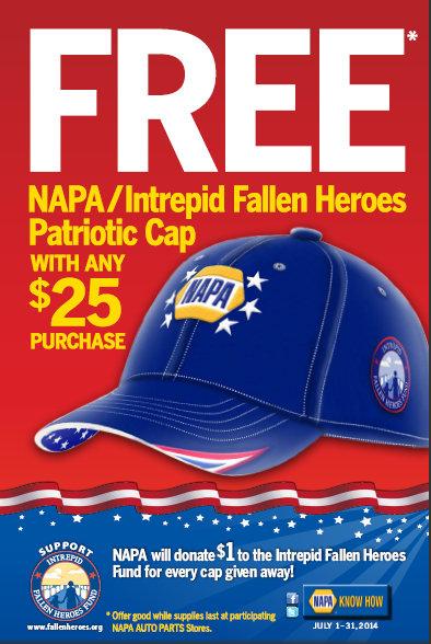 NAPA Intrepid Fallen Heroes cap flyer July 2014