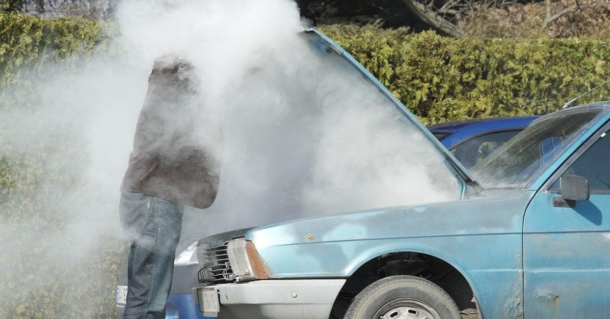 open hood steam