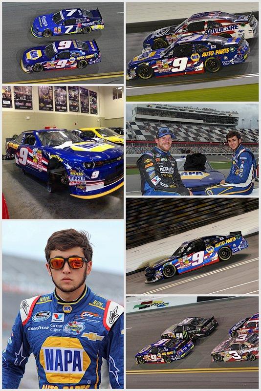 Chase Elliott Daytona 2014 NAPA AUTO PARTS Chevrolet collage