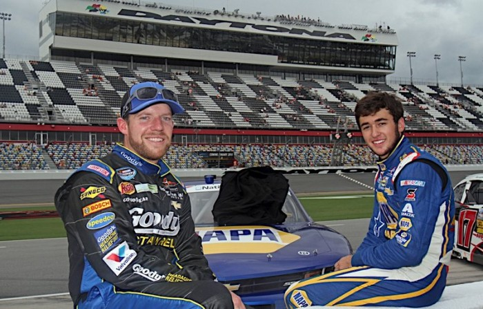 Chase Elliott Daytona 2014 NAPA AUTO PARTS Chevrolet w Regan Smith