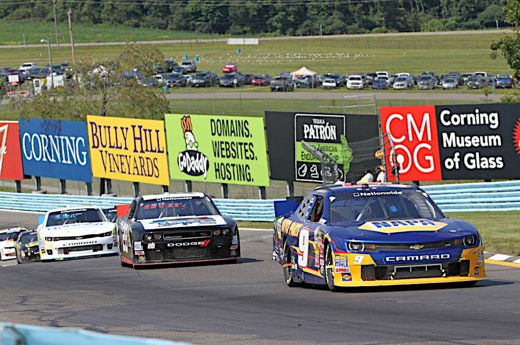 Chase Elliott Watkins Glen 2014 NASCAR Nationwide Series road course esses
