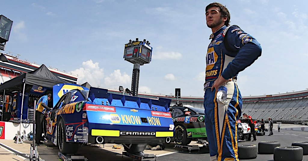 Chase Elliott during Nationwide practice at Bristol Motor Speedway in Bristol TN.
