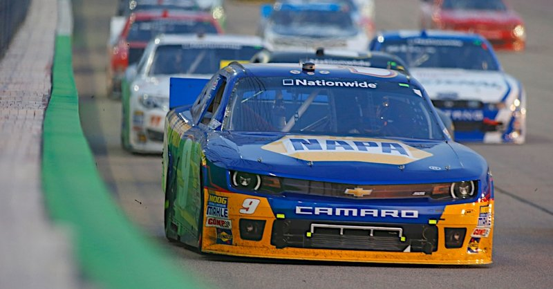 Chase Elliott during the U.S. Cellular 250 NASCAR Nationwide Series race at Iowa Speedway in Newton, Iowa.