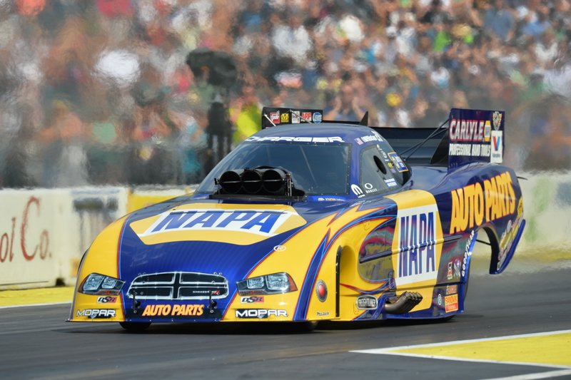 Ron Capps NAPA AUTO PARTS Funny Car 2014 Northwest NHRA Nationals driver side