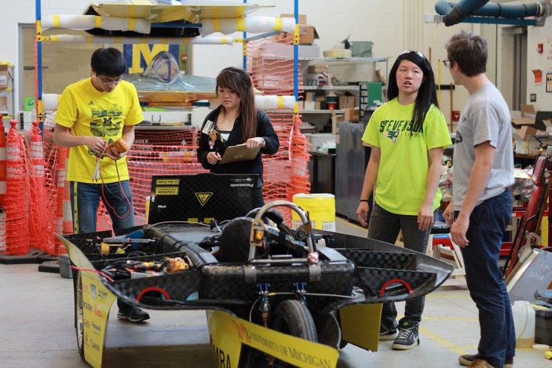 UM Solar Car team shop NAPA Know How
