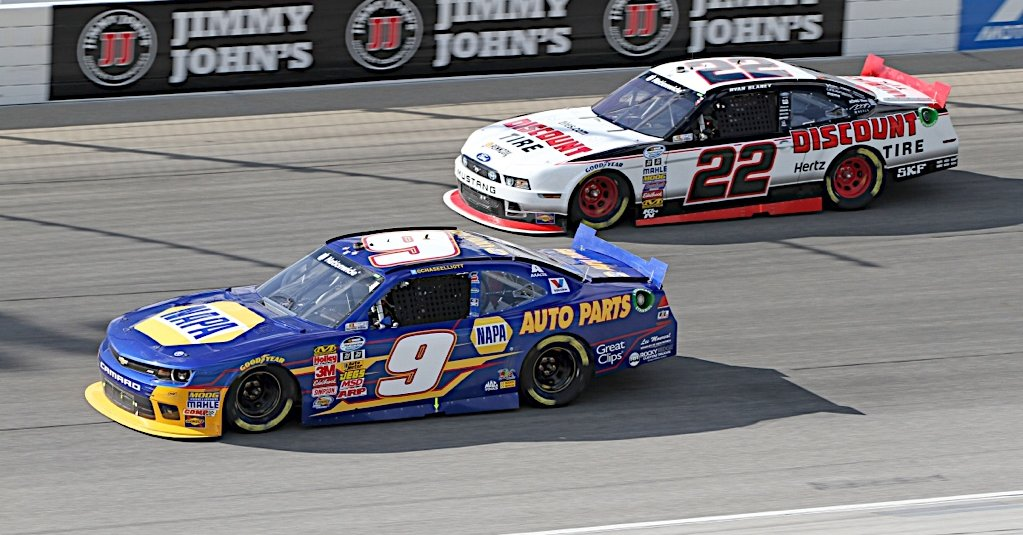 Chase Elliott during the Jimmy Johns 300 at the Chicagoland Speedway in Joliet, IL.