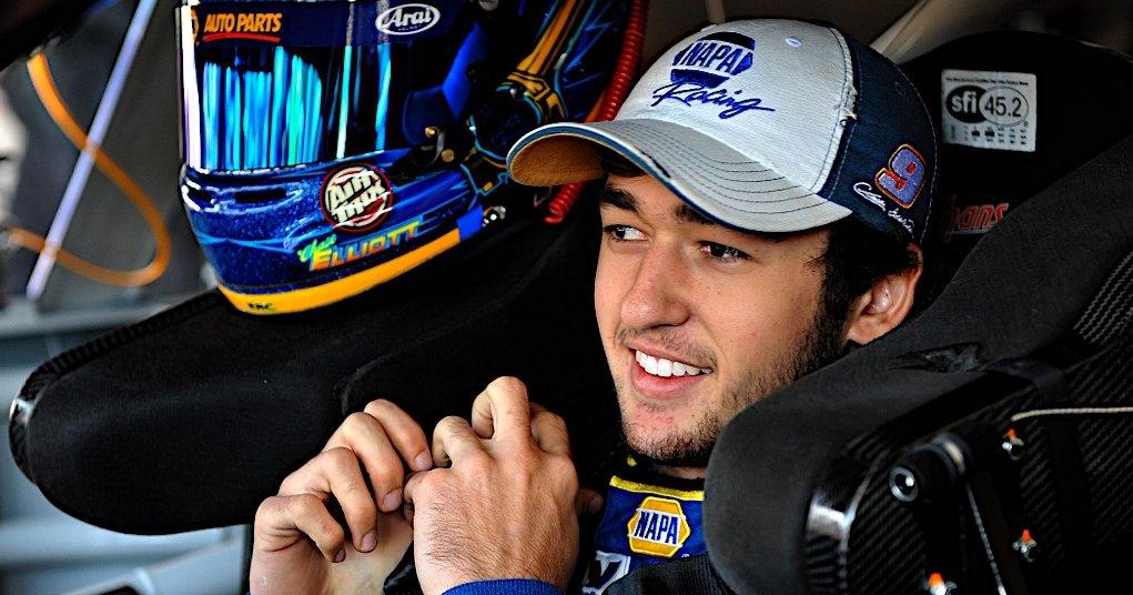 Chase Elliott during Nationwide practice at Kansas Speedway in Kansas City, KS.