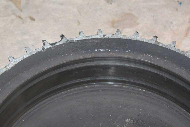 Damaged brake rotor