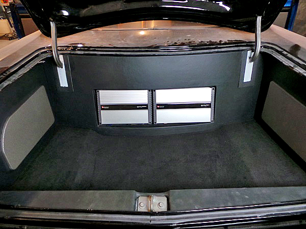 What pro-touring show car would be complete without a booming stereo system in a clean trunk?