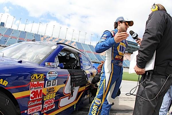 Chase Elliott media interview Chicagoland Speedway 2014