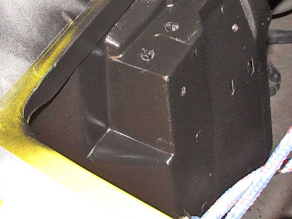 Then we sprayed some single-stage semi-gloss paint that we ordered through our local NAPA Auto Parts Store.