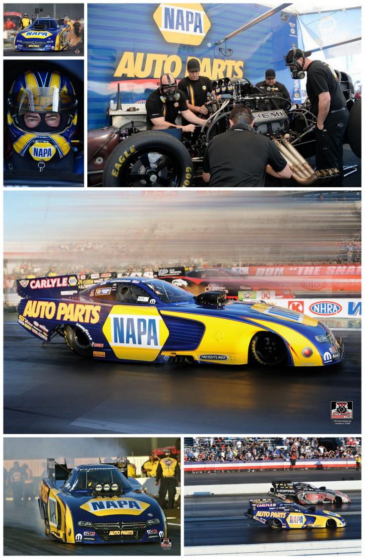 Ron Capps NAPA AUTO PARTS NHRA Funny Car Pomona 2015 collage