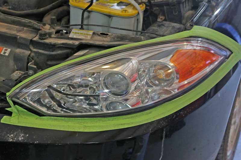 The headlight restoration result is pretty impressive
