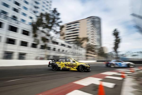 NAPA Chassis Tanner Foust Formula Drift VW Passat Long Beach action