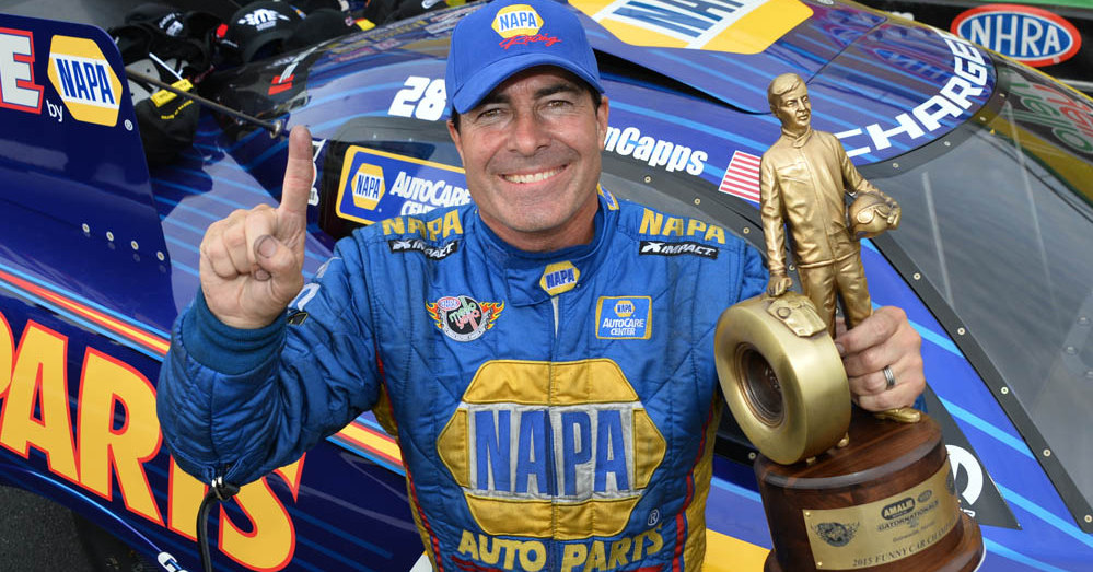 Ron Capps NAPA AUTO PARTS 2015 Gatornationals Winner - trophy featured