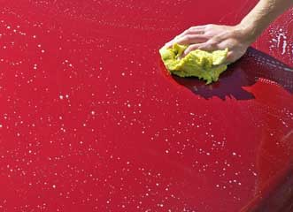 Washing hood of car