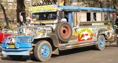 Tricked-out Jeepney on the street
