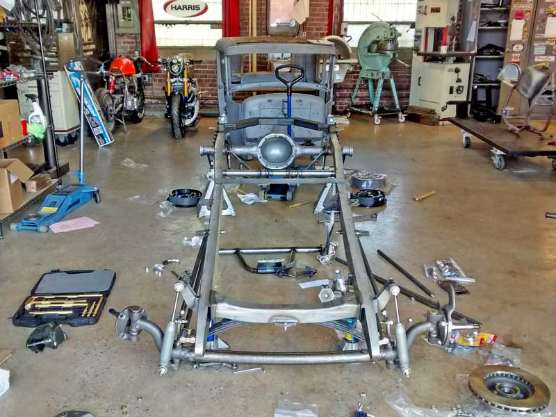 This is the new foundation for our 1930 Model A project. Some assembly required.