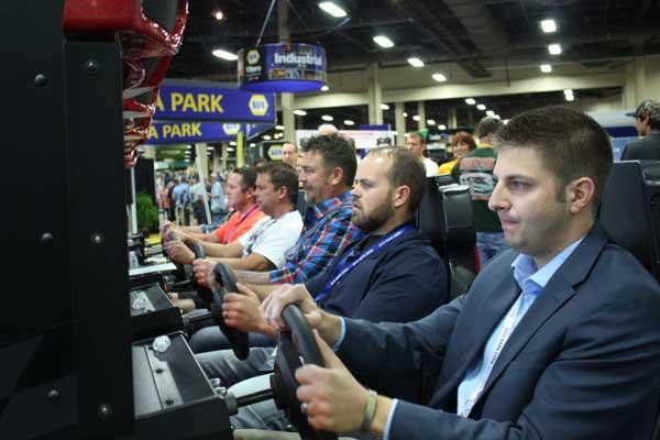 NAPA EXPO 2015 NASCAR driving simulator Mandalay Bay Las Vegas